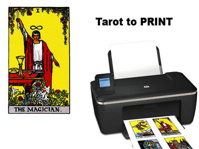 78 Digitals Rider Waite Tarot Cards English to print* (ONLY JPEG) (DIGITAL ITEM)