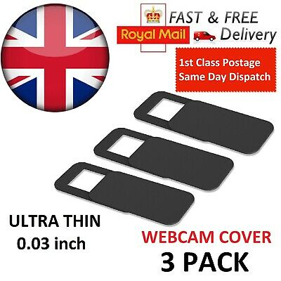 Webcam cover 3 PACK Thin 0.03in Camera Slider Sticker for Laptop Mobile Tablet