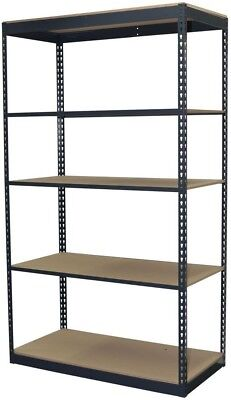 Storage Concepts 84 in. H x 48 in. W x 24 in. D 5-Shelf Steel Boltless Shelving