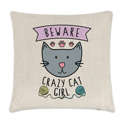 Reserved For The Cat Linen Cushion Cover Home Decor Gift Funny Pet Love