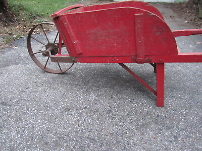 Pick up only Antique Wooden Wheel Barrow