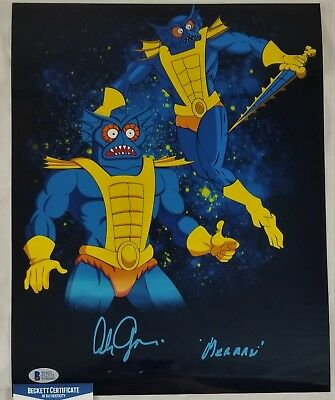 Alan OPPENHEIMER SIGNED 11x14 Photo MERMAN MOTU BECKETT BAS COA 371 ORIGINAL