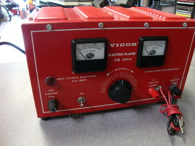 Vigor Electro-Plater PM 260A Electroplating Machine Jewelry/Part Plater
