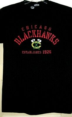 Licensed Chicago Blackhawks Nhl Graphic Black Size Medium T-Shirt You'll Love It