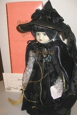Bradley's Wizard of Oz Porcelain Doll THE WICKED WITCH OF THE WEST Doll