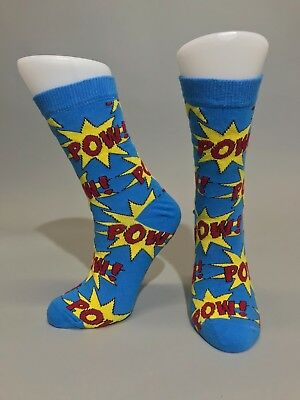 Ladies Womens Cotton Pow Pop Art Design Funky Socks Everyday Use 4-7 UK