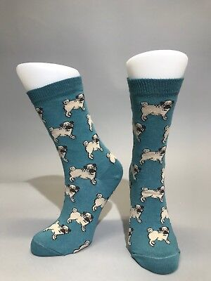 Ladies Womens Cotton Rich Pug Design Funky Socks Everyday Use 4-7 UK Dog Lovers