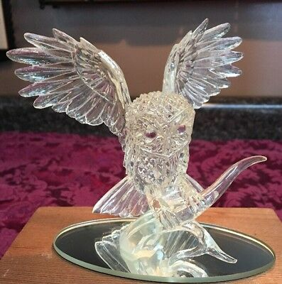 The Hamilton Reflections Of the Owl Collection Glass Owl Wisdom of the Diamond