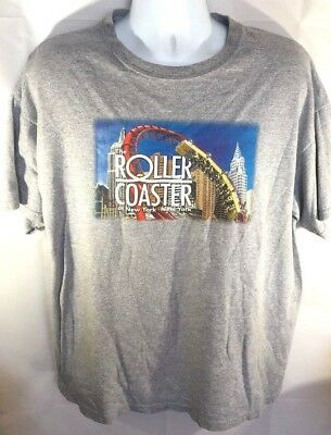New York New York Las Vegas Casino Rollercoater Mens XL Gray T-Shirt Cotton    4