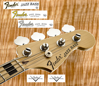 2 x Decalcomania Decal Fender Jazz Bass Serial Number Gold / Grey / Black