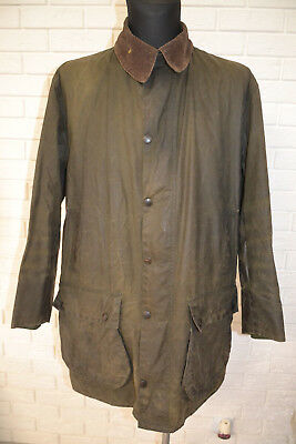 Barbour- A200 Border Waxed Cotton Shooting Jacket Made Uk- Sage Size: 44 112 Cm