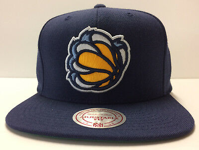 free shipping 83885 6e814 Memphis Grizzlies Mitchell   Ness NBA Snapback Hat Alternate Bear Claw Navy  Cap