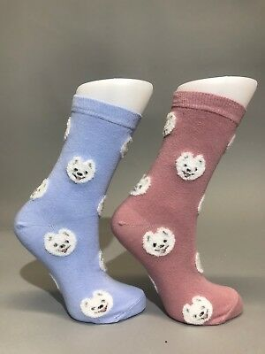 Ladies Womens Cotton Rich Husky Dog Design Funky Socks Everyday Use Size 4-7 UK