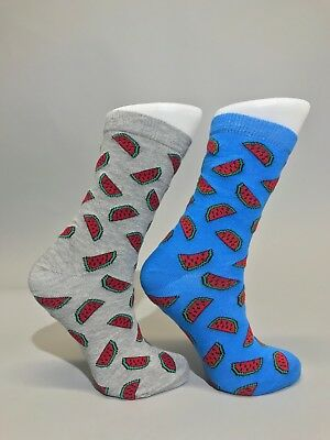 Ladies Womens Cotton Rich Watermelon Design Funky Socks Everyday Use Size 4-7 UK