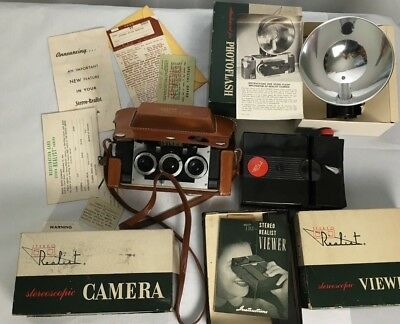 Realist Stereo Camera, Attachment Flash & Viewer in box - ST-41 & ST-61 ST-52