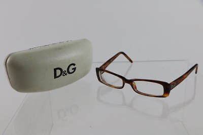 D&G Dolce&Gabbana Tortoise Shell Frame Rectangular Prescription Eye Glasses