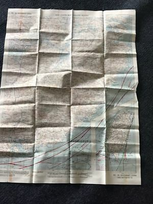 WW2 US ARMY USMC USN Pilot SILK MAP No. 34 & No. 35 CHINA ! WWII  RARE USGI