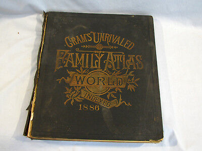 1886 Crams Unrivaled Family Atlas Of The World