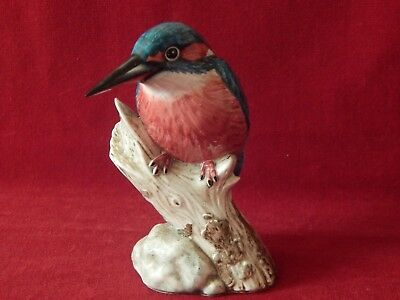 Old J Mack Kingfisher Bone China Bird