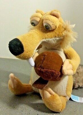 "Ice Age Scratt The Squirrel Soft Toy/Plush -6.5"" Tall, VGC"