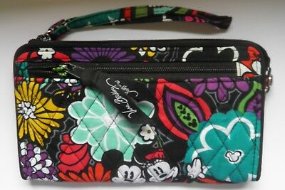 2a2dc17011c NWT Vera Bradley Disney Parks Mickey s MAGICAL BLOOMS Front Zip Wristlet  Wallet