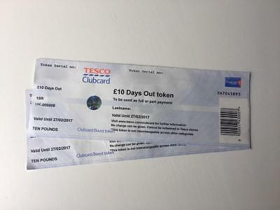 Tesco Club Card Days out Vouchers worth £100