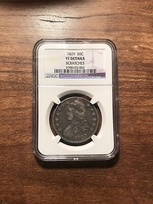 1829 Capped Bust Half Dollar NGC VF Details!! Rare! Free Shipping****