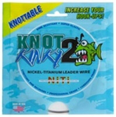 Knot 2 Kinky Nickel-Titanium Leader Wire 75lb(34.01kg) 15ft(4.6m) Single Strand