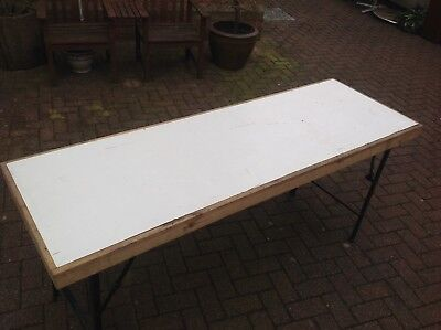 Market trader table large car boot table antique fairs folding table heavy duty