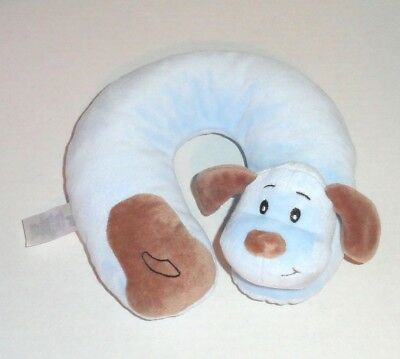 Baby Gear Blue Puppy Plush Infant Neck Roll Head Support Pillow Travel P68