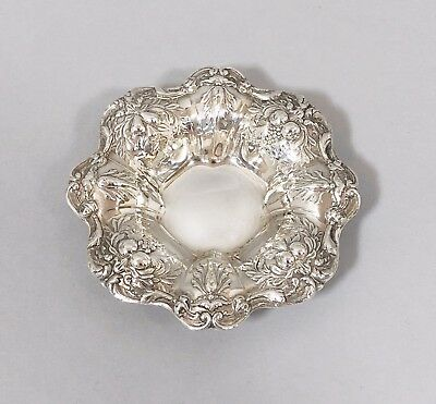 Vintage silver plate Topazio Casquinha small embossed trinket dish bowl fruit