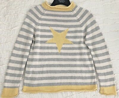 MOBY GOBY Company Kids Sz L 10/12 Cotton Striped Spring Beach Sweater STAR