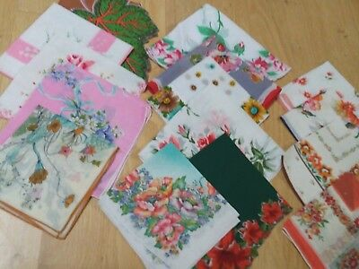 lot 15 floral vintage hankies handkerchiefs ALL PERFECT & BRIGHT