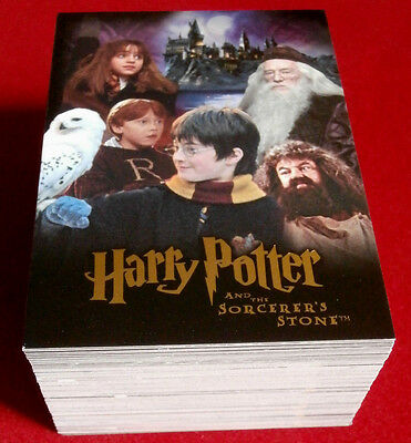 HARRY POTTER - SORCERER'S STONE - COMPLETE BASE SET, 90 trading cards, ARTBOX
