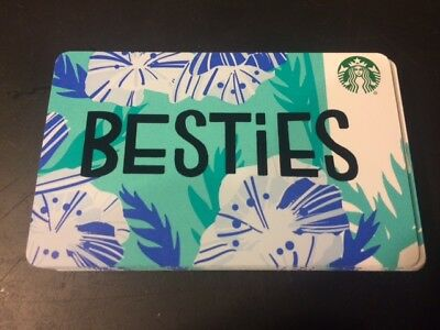 """FREE SHIP STARBUCKS """"BESTIES""""GIFT CARD AND FREE EXTRA SURPRISE GIFT 2018 Mint"""