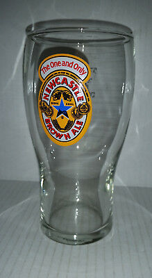 Newcastle Brown Ale UK beer pint glass 570 ml approx. 16 cm high