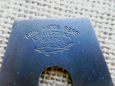 "Eric Anton Berg shark logo plane iron blade  44 mm 1 3/4"" no 1"