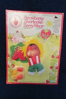 Vintage 1980's Strawberry Shortcake Berry Wear - Original Packaging
