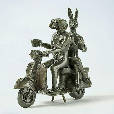 GILLIE AND MARC. Direct from artists. Authentic bronze sculpture 'Pocket Vespa'