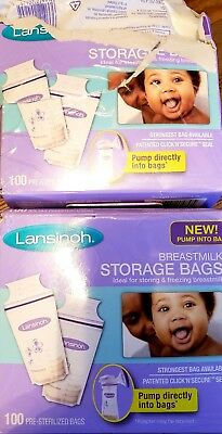 Lansinoh BPA And BPS Free Breastmilk Storage Bags, 200 Count /Priority Shipping