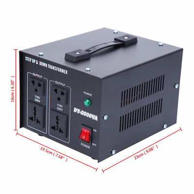 Step Down / up AC Transformer 240V to 110V UK to US/Janpan Voltage Converter 2KW