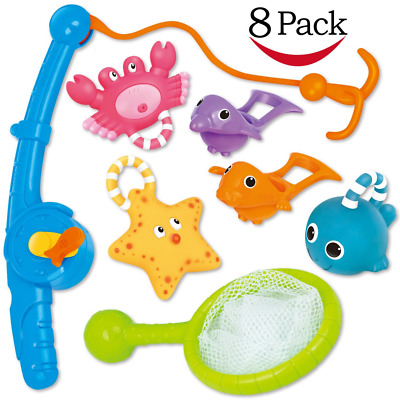 Bath Toy, Fishing Floating Squirts Toy and Water Scoop With Organizer Bag