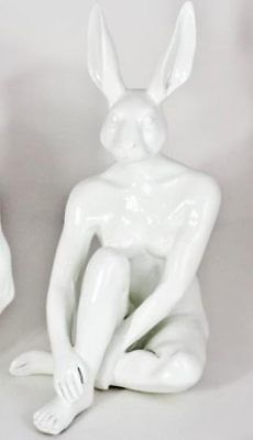 GILLIE AND MARC, Direct from artists. Authentic resin sculpture 'Mini Rabbit'