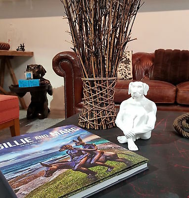 GILLIE AND MARC, Direct from artists. Authentic resin sculpture 'Mini Dogman'