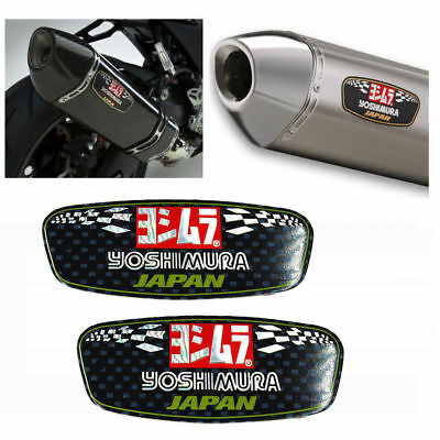 2X Yoshimura Aluminium Heat-resistant Motorcycle Part Decal Exhaust Pipe Sticker