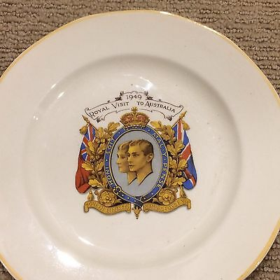 """1949 Proposed Royal Visit to Australia Plate!! Collector's item! Size 18cm (7"""")"""