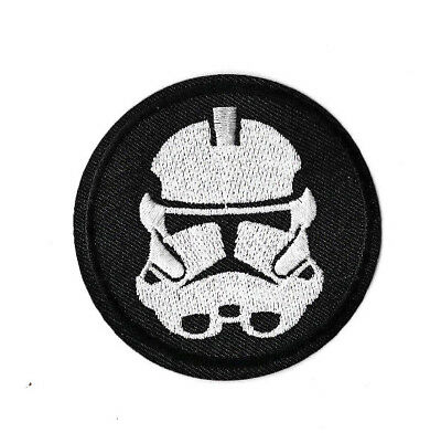 STORMTROOPER Iron on Sew on Patch Embroidered Badge Motif Movie Star Wars PT403