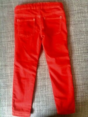 Mädchen Stretch Jeans, Gr. 110 - 4-5 Jahre, Rot, United Colours Of Benetton***