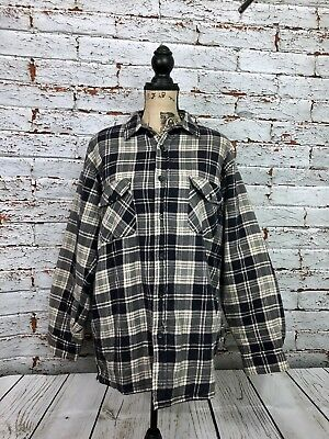 OZARK TRAIL  Navy Blue Plaid Quilted Insulated Jacket Mens Sz M