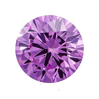 2.92 ct 9.75 mm VVS1 (Pink), Loose Moissanite Hardness 9.25 Round Brilliant Cut